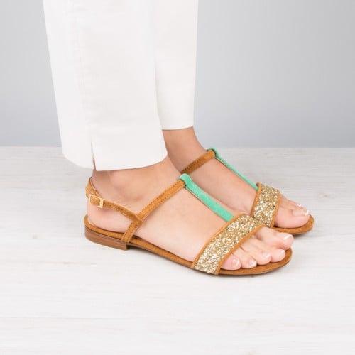 Sandales : L'Exquise - Caramel