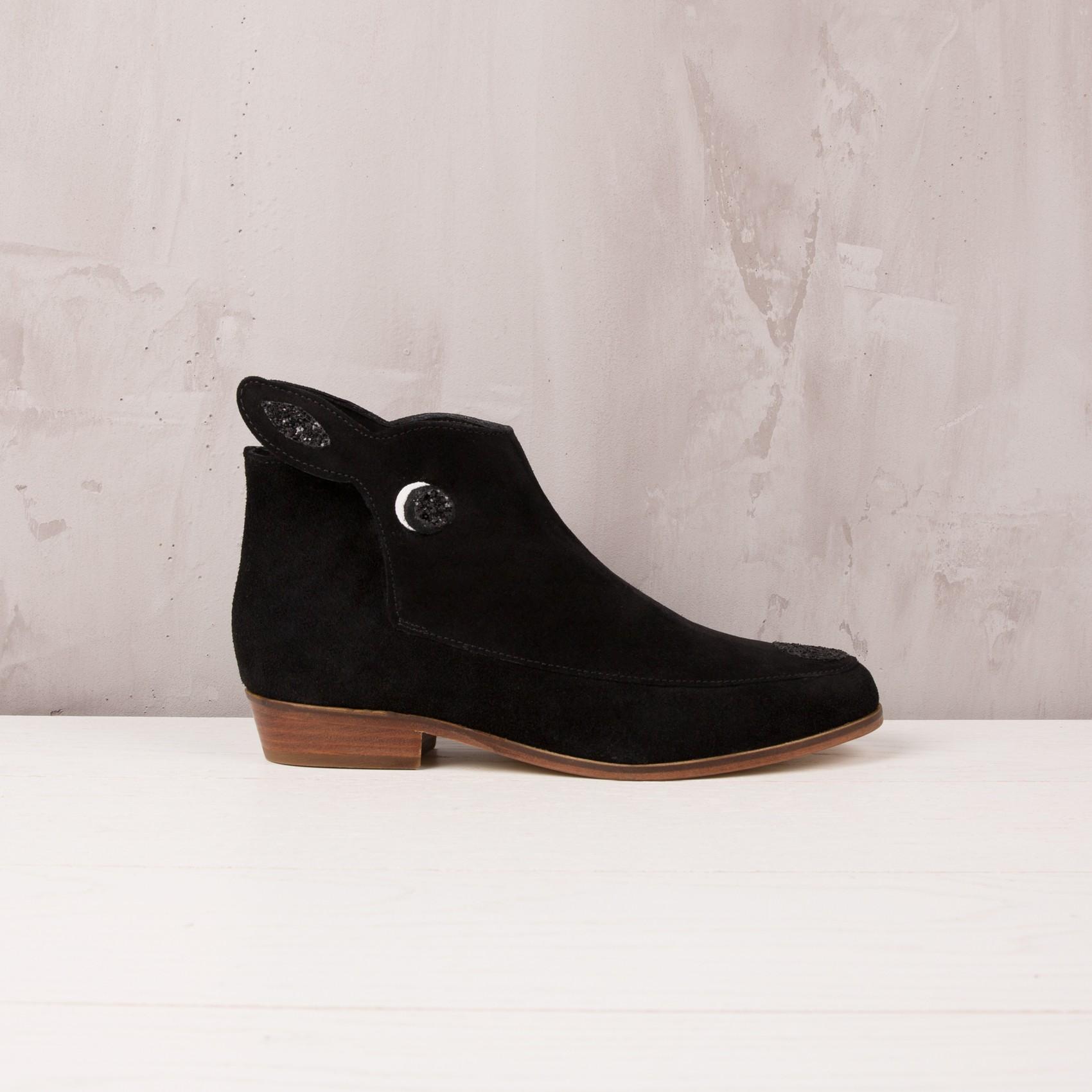 boots plates noir - la petite biche - bobbies