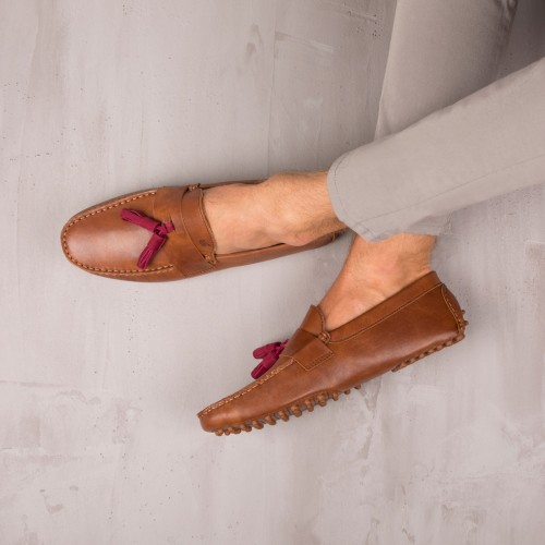 Mocassins : Le Dandy - Cognac