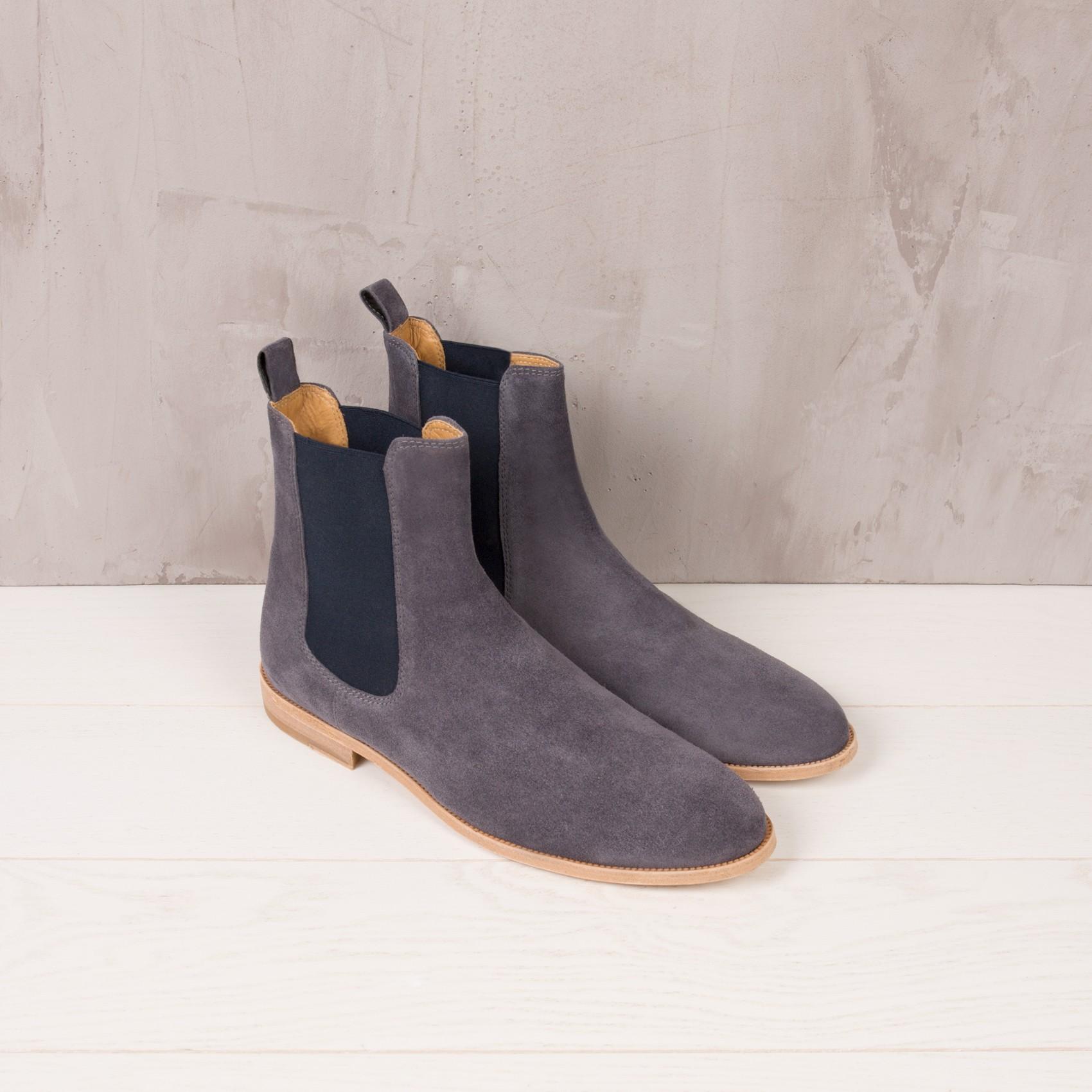 Chelsea Boots : Le Romanesque - Gris Anthracite