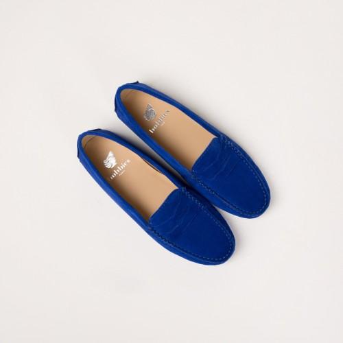 Driving Loafers : La Parisienne - Sapphire Blue