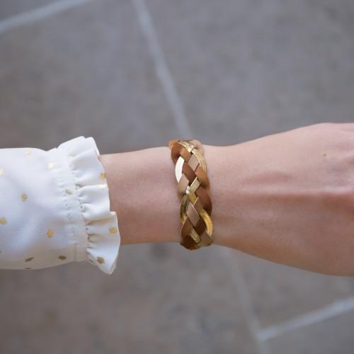 Bracelet Divin - Nuances de Brun