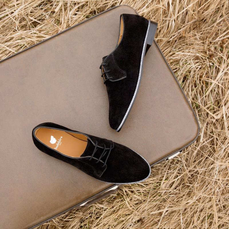 Chaussures à lacets BOBBIES La Brillante velours Femme NoirBobbies IkBNEkX2u