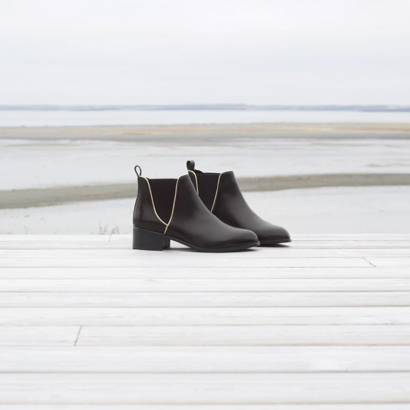Jeu Vraiment Grande Vente À Vendre Bobbies Boots à talons en cuir intense À La Recherche De Prix Pas Cher yY6V5uwor