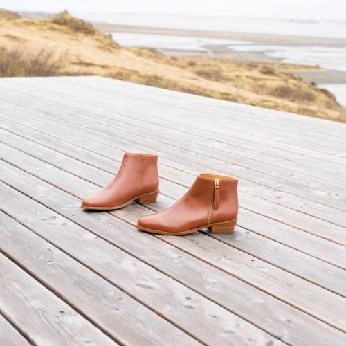 Flat Boots : La Groupie - Cognac