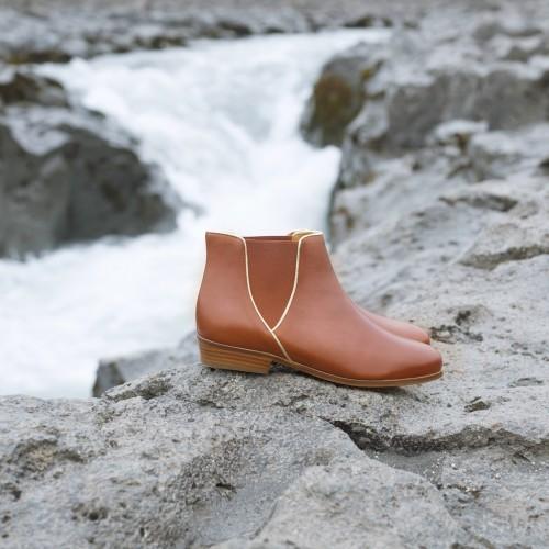Flat Boots : La Londonienne - Cognac