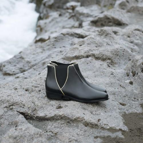Flat Boots : La Londonienne - Black Intense